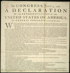 United States Declaration of Independence. Image from US Library of Congress.
